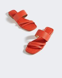 Jigsaw KARLA RED LEATHER SANDALS