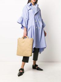 KASSL EDITIONS top handles tote bag | large beige padded bags
