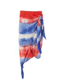 LOEWE PAULA'S IBIZA Knotted tie-dye wrap skirt / saron style skirts / beachwear