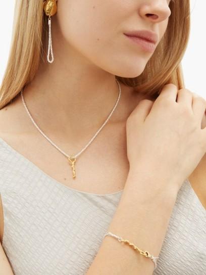 ALIGHIERI 24kt gold-gilded earrings, necklace and bracelet