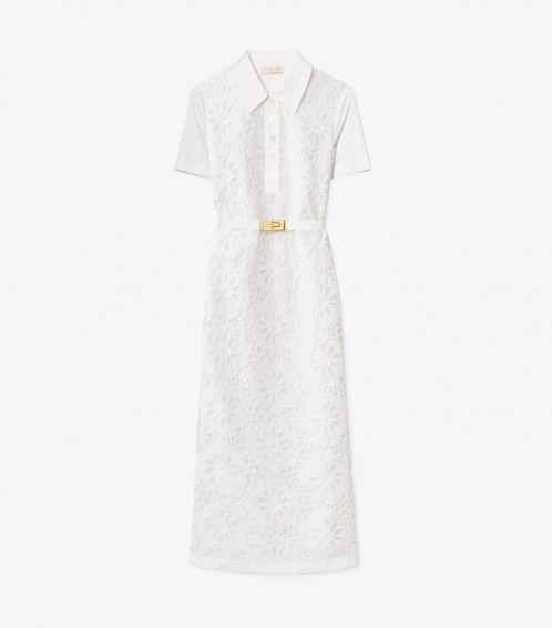 Tory Burch LACE POLO DRESS / white summer dresses
