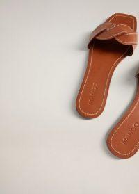 MANGO MANILA Leather braided sandals