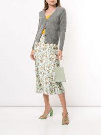 LEE MATHEWS Bella floral-print silk skirt / green summer skirts