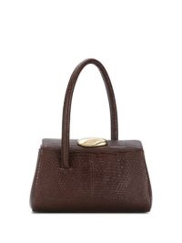 LITTLE LIFFNER Baby Boss tote bag | small luxe brown-leather handbag