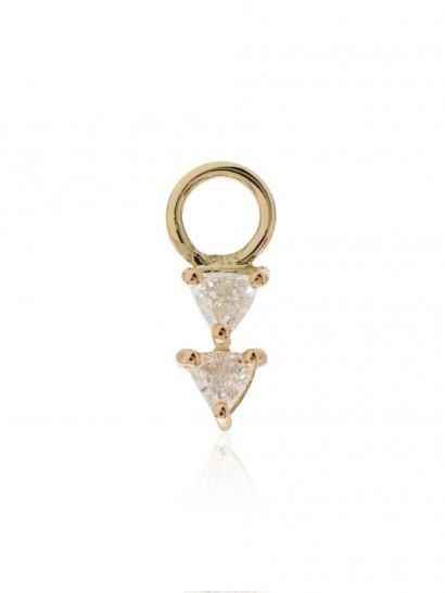LIZZIE MANDLER FINE JEWELRY 18kt gold diamond earring charm / single charms
