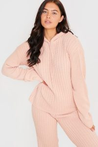 LORNA LUXE BLUSH 'LULLABY' CO-ORD HOODIE | loungewear