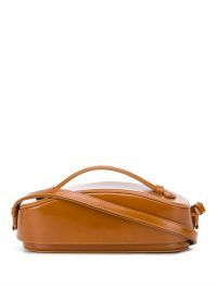 LOW CLASSIC Structure tote | small camel brown handbag