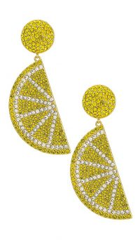 LPA Caspian Earring Lemon Yellow | fruit earrings | lemons