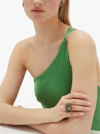 ANA KHOURI Maia emerald & 18kt gold ring ~ green gemstone rings