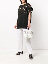 MAISON MARGIELA crackled print 5AC bag / small designer handbags