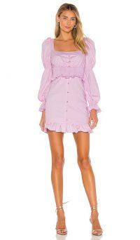 MAJORELLE Lomita Mini Dress Bubblegum Pink