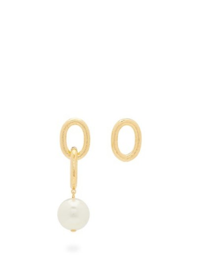 AURÉLIE BIDERMANN Manon mismatched pearl & gold-plated earrings
