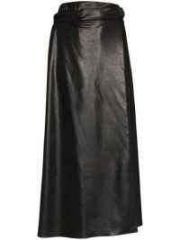 MARKOO Aline black faux leather skirt