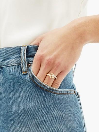 CHARLOTTE CHESNAIS FINE JEWELLERY Maxi Twin pavé diamond & 18kt gold ring / contemporary rings