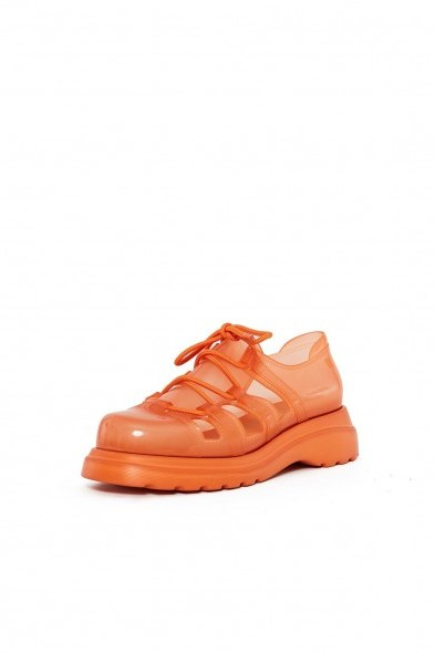 Melissa OC X MELISSA LACEY SNEAKER Transparent Orange - flipped