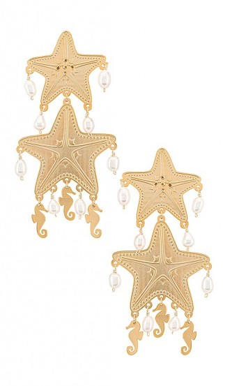 Mercedes Salazar Isla Starfish Earring | long tiered earrings | sea inspired drops