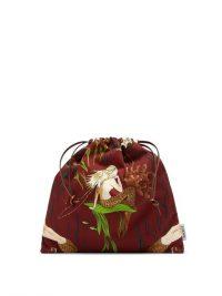LOEWE PAULA'S IBIZA Mermaid-print small drawstring canvas pouch ~ ocean inspired pouches / bags