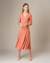 JIGSAW MINI BLOCK TEA DRESS PAPRIKA / dresses with swish