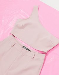 Missguided 3 piece tailored set in mauve – fashion co-ords