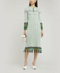 MAME KUROGOUCHI Mix Knit Tasselled Dress