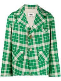 MM6 MAISON MARGIELA oversized check-print jacket / green checked jackets / bold prints