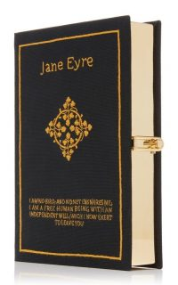 Olympia Le-Tan M'O Exclusive Jane Eyre Book Clutch / black event bags
