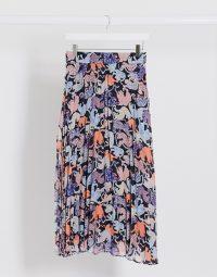 Monki Laura safari print plisse midi skirt in multi | wild animal prints