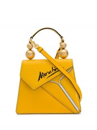 MOSCHINO Coconut Slice tote bag in yellow | small neat top handle bags