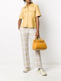 MULBERRY Bayswater logo tote bag ~ yellow leather handbag