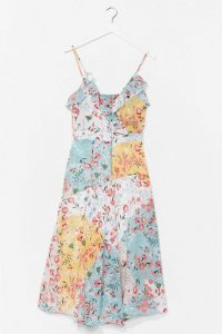 NASTY GAL Multi Talented Floral Midi Dress / thin strap summer frock