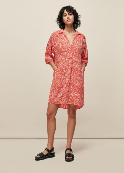 WHISTLES TIGER PALM PRINT LOLA DRESS / casual day dresses