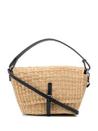 MUUN Fille Holly tote bag / small raffia and leather handbag