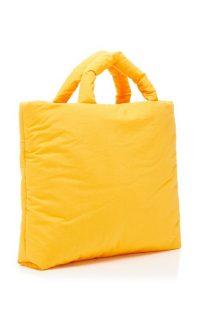 Kassl Oil Padded Leather Tote Bag / orange bags