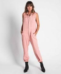 ONETEASPOON BLUSH BRAXTON UTILITY JUMPSUIT | sleeveless jumpsuits