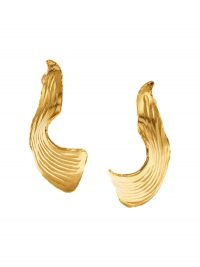 OSCAR DE LA RENTA Molten Leaf earrings