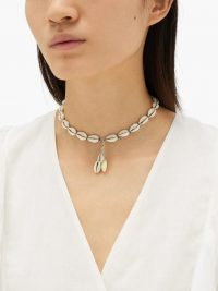 ISABEL MARANT Oscar shell necklace / choker necklaces