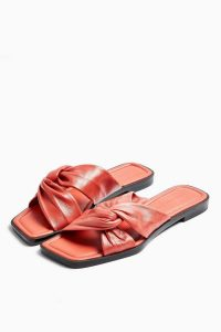 Topshop PACIFIC Coral Leather Twist Sandals | summer shoes