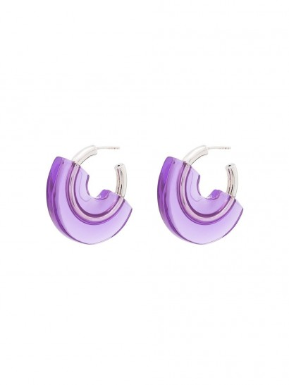 PANCONESI gold-plated sterling silver and purple resin earrings
