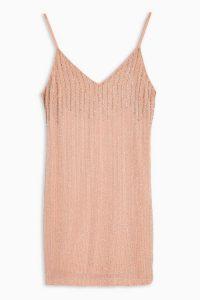 TOPSHOP Pastel Pink Beaded Slip Dress / embellished cami dresses