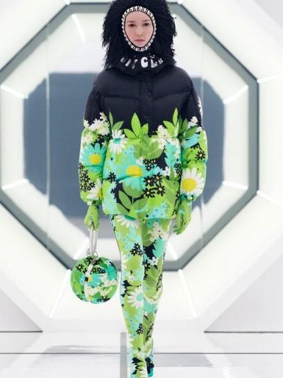 0 MONCLER GENIUS RICHARD QUINN Pat floral-print nylon jacket / flower prints