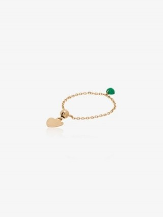 Persée 18K Yellow Gold Emerald Chain Ring