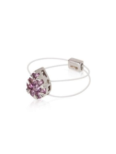 PERSÉE 18kt white gold sapphire pear cluster ring / contemporary rings