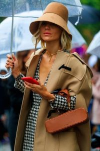 Chic in camel and dogtooth prints
