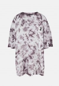 playboy x missguided charcoal tie dye oversized t shirt dress