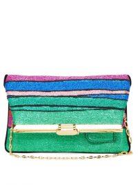 BIENEN-DAVIS PM rainbow-striped lurex clutch – beautiful evening bags
