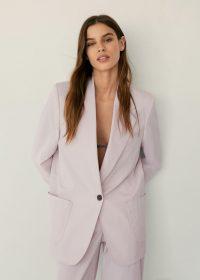 MANGO STUDIO Pockets suit blazer – light pink blazers