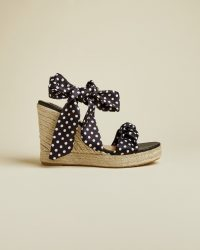TED BAKER MARRIY Polka dot espadrilles black