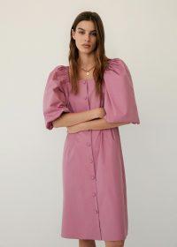 MANGO BALOON Poplin buttoned dress