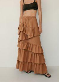 MANGO RIZO Poplin ruffled skirt