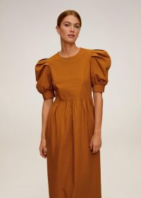 MANGO JAMES Puffed sleeves cotton dress